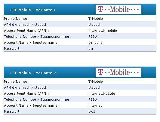 t-mobile beispiel - (Internet, Handy, Einstellungen)