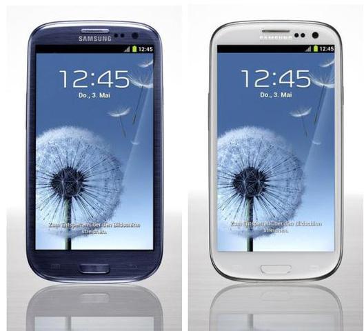 Samung Galaxy 3s weiss/blau - (Handy, Samsung Galaxy S3)