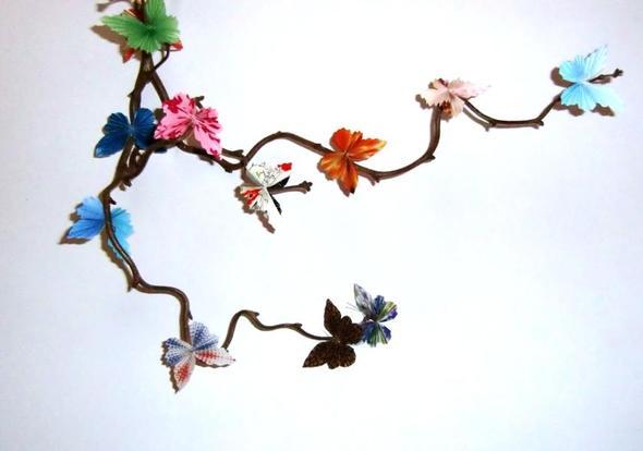 Schmetterlinge  - (basteln, Geburtstagsgeschenk)