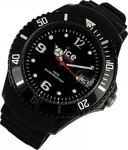 Eine Schwarze Ice Watch. - (Kinder, Geschenk)
