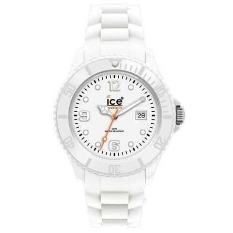 Eine weiße Ice Watch. - (Kinder, Geschenk)