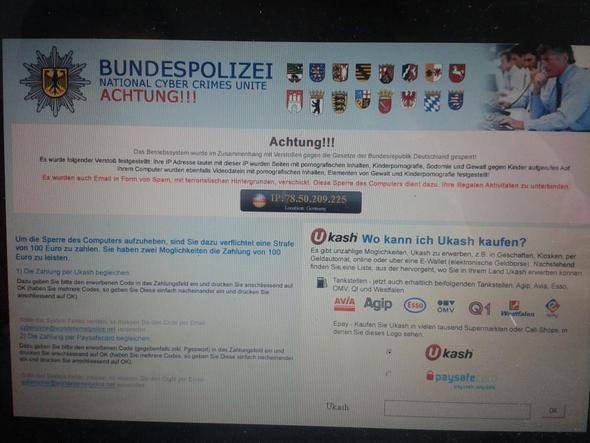 Virus/Trojaner Kriminalpolizei - (Computer, Geld, kino.to)