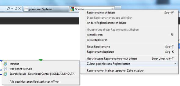 screenshot - (Internet Explorer, Favoriten, registerkarte)