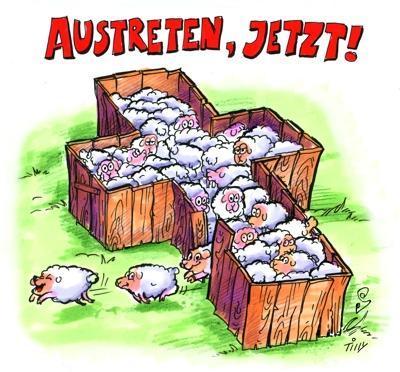 www.kirchenaustrittsjahr.de schaefchengatter - (Religion, Bedeutung, Kirche)