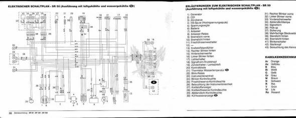 SR 50 Schaltplan - (Roller, Kabel, Licht)