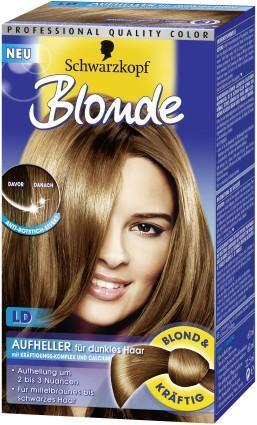 Schwarzes haar blondieren