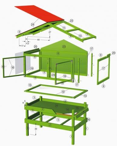 hasenstall selber bauen anleitung hasenstall dekorativ selber bauen hasenstall kaninchenstall. Black Bedroom Furniture Sets. Home Design Ideas