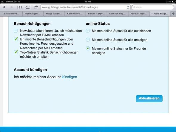 Account löschen - (Account-loeschen)