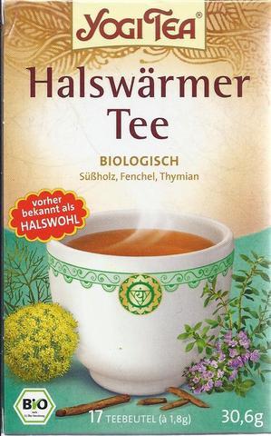 Bild Verpackung Halswärmer-Tee - (Gesundheit, Erkältung, Hausmittel)