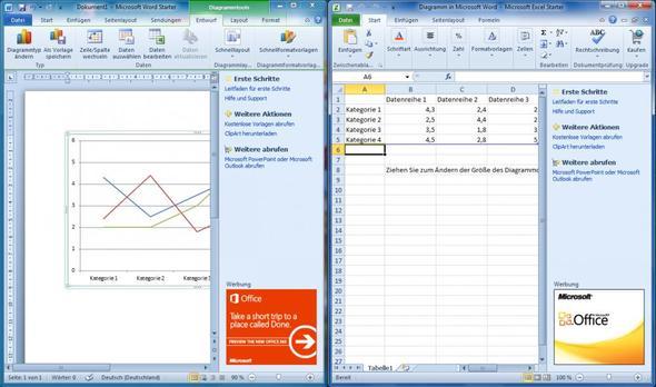 Diagramm einfügen bei Word - (Word, Diagramm, Excel 2010)