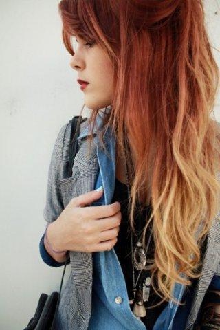 da mit roten haaren :) - (Haare, verrückt)