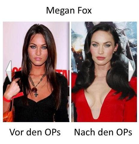 Vorher-Nachher - (Beauty, Stars, megan fox)