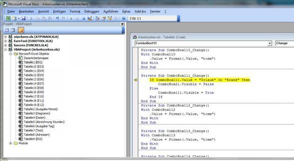 Microsoft Visual Basic - (programmieren, Excel)