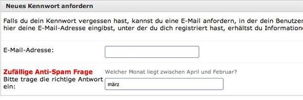 Frage zur Kennwortwiederherstellung - (Computer, Passwort)