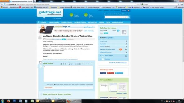 Bildschirmfoto in original Auflösung. - (Windows, Windows 7, Photoshop)