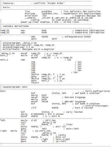 Programm das geändert werden soll - (programmieren, Elektrotechnik, pics)