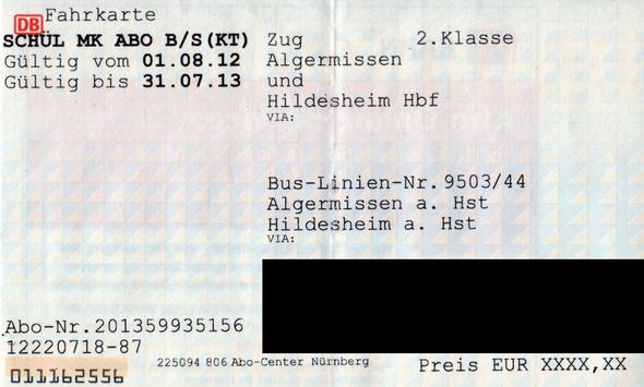 Meine Fahrkarte - (Ferien, Ticket, Zug)