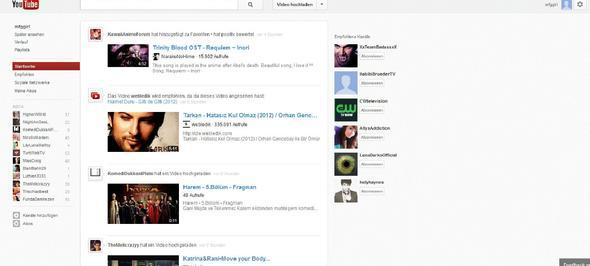 so sieht es jetzt bei m ir aus - (Youtube, Design)
