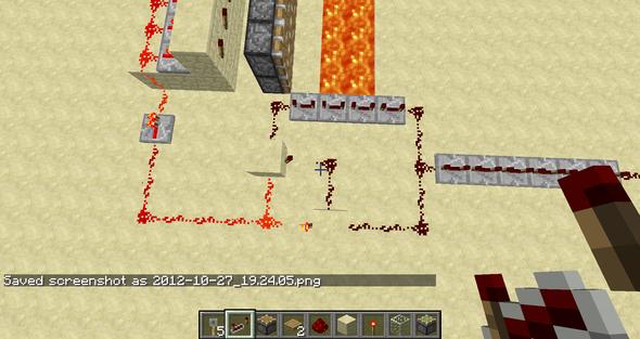 von oben - (Minecraft, falle)