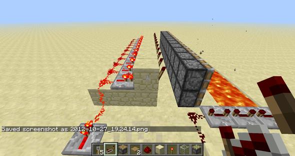 hinter den kolben - (Minecraft, falle)