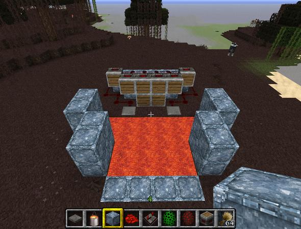 Frontansicht - (Minecraft, falle)
