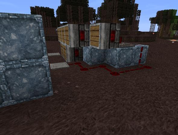 redstone vorne rechts - (Minecraft, falle)