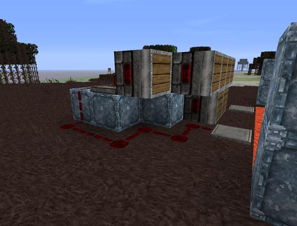 redstone vorne links - (Minecraft, falle)