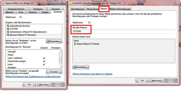 Besitz-Rechte - (Windows 7, Ordner)