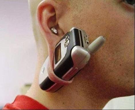 Telefonhalter - (Ohr, Tunnel, Herztunnel)