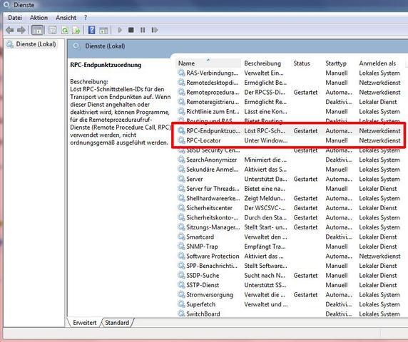 RPC-Dienst - (Drucker, RPC Server)