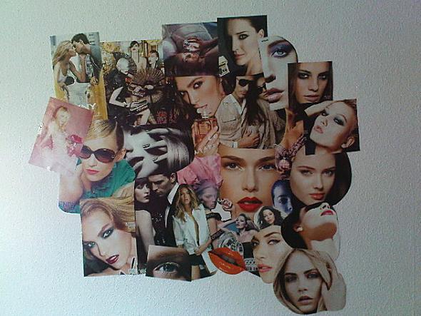 collage an der Wand ♥ - (Zimmer, Gestaltung)