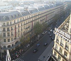 Lafayette (Boulevard de Haussmann) im H.-Stil - (Frankreich, Paris, Revolution)