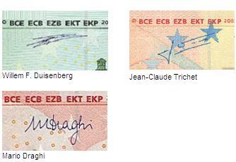Unterschrift Euroschein