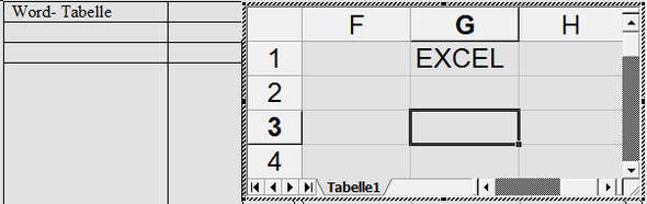 Word: Wie kann ich in einer Tabelle eine Zeile unabhängig von den ...