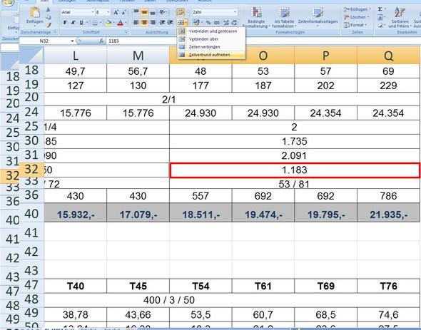 Zellenverbund aufheben - (Excel, Adobe, Office)