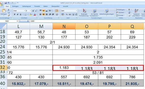 3 einzelne Zellen mit Inhalt - (Excel, Adobe, Office)