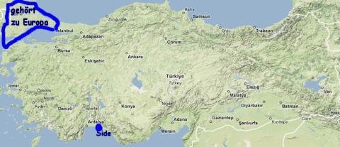 Istanbul grenze und in europa zwischen asien Eurasien