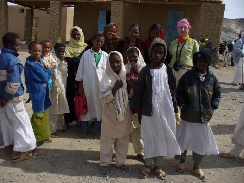 sudanesische Schulkinder und ich - (Kinder, Afrika, Michael Jackson)