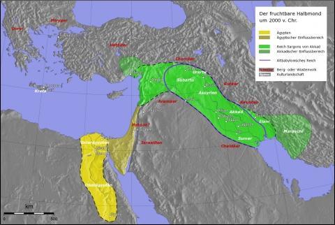 Karte_alter Orient - (Geschichte, Länder, babylon)
