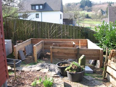 Hochbeet im Bau - (Holz, öko, gartenbau)
