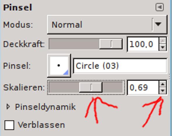 Pinsel skalieren - (Computer, Internet, Programm)