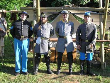 1 Sergeant und 3 Captains der 2nd S.C. Infantry - (Erlaubnis, Uniform, Historie)