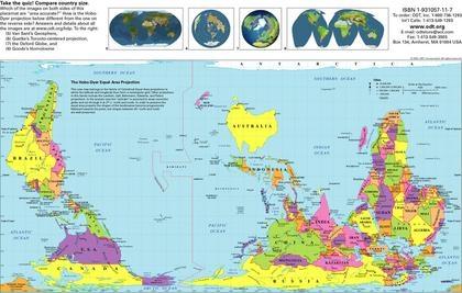 Hobo-Dyer Weltkarte