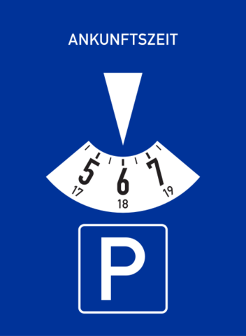 Parkscheibe - (Geschenk, Weihnachten, Straßenverkehr)