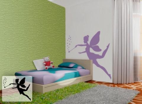 Wandschablonen Kinderzimmer - Zauberfee - (babyzimmer, wandschablonen)