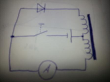 Stromsprung an der Spule (Schule, Strom, Induktivität)