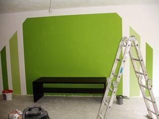 wand streichen wie am besten farbe abkleben. Black Bedroom Furniture Sets. Home Design Ideas