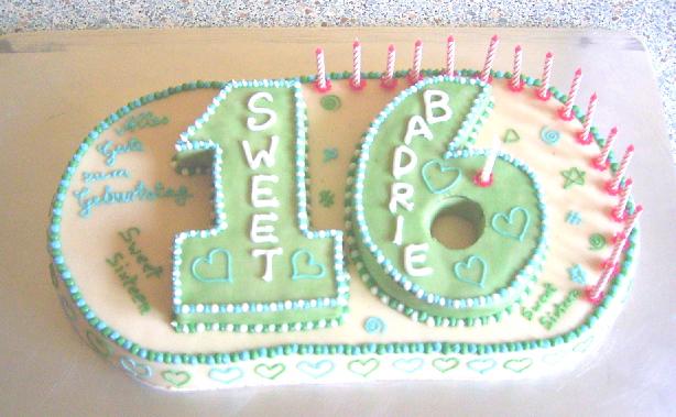 sweet sixteen kuchen
