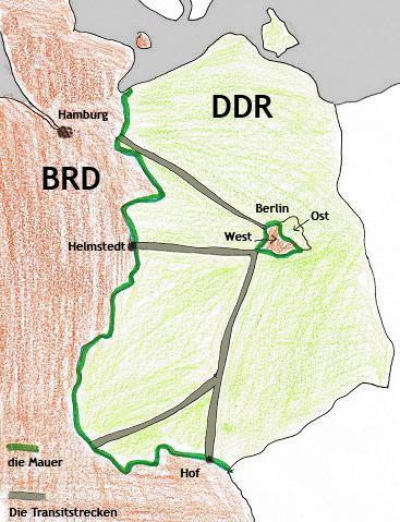 DDR, BRD, Berlin, Mauer, Transitstrecken - (Geschichte, viermächteabkommen)