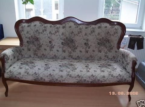 jugendstil sofa neu beziehen polsterstoff. Black Bedroom Furniture Sets. Home Design Ideas